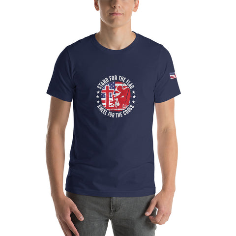 Stand for the Flag Kneel for the Cross - Short-Sleeve Unisex T-Shirt