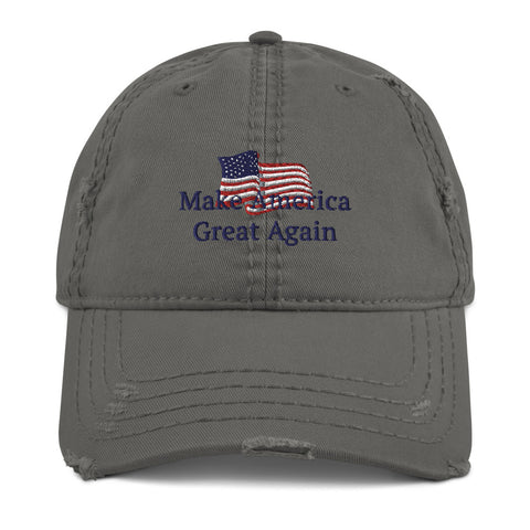 MAGA Flag - Distressed Cap