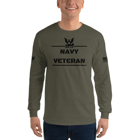 Navy Veteran - Men's Long Sleeve Shirt