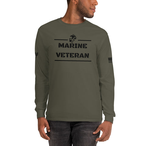 Marines Veteran - Men's Long Sleeve Shirt