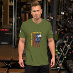 US Veteran Flag - Short-Sleeve Unisex T-Shirt