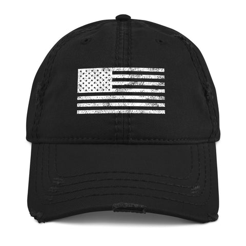 American Flag - Distressed Cap