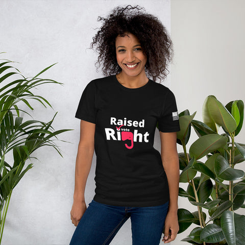 Raised Right Vote MEO - Short-Sleeve Unisex T-Shirt