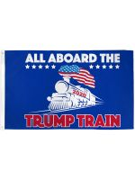 TRUMP TRAIN FLAG 3X5FT POLY