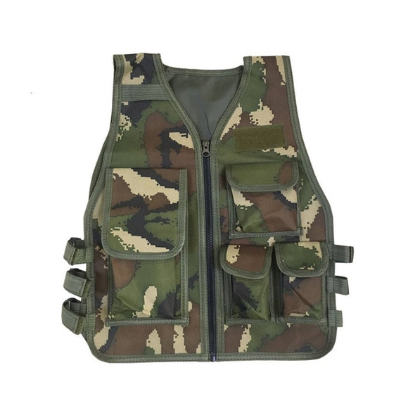 Kids Army Tactical Military Uniform Vests Camouflage Clothing-theradiowar-theradiowar