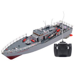 RC Torpedo Boat & Military Ship-Remote control battleship-remote control boat for pools-remote control toy boat-theradiowar