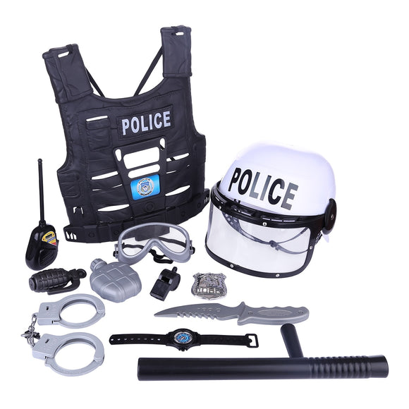 11Pcs/set Children Policeman Role Play Kits-theradiowar-theradiowar