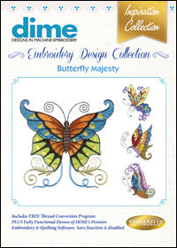 Dime Embroidery Design Collection - Butterfly Majesty
