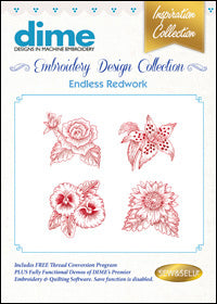 Dime Embroidery Design Collection - Endless Redwork