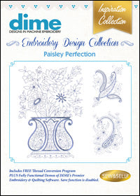 Dime Embroidery Design Collection - Paisley Perfection