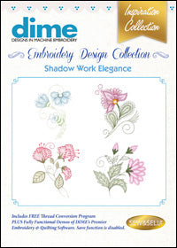 Dime Embroidery Design Collection - Shadow Work Elegance