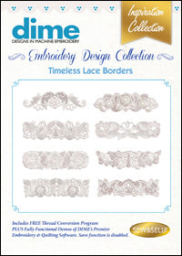Dime Embroidery Design Collection - Timeless Lace Borders