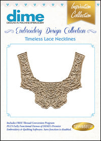 Dime Embroidery Design Collection - Timeless Lace Necklines