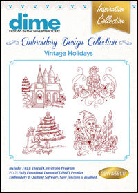 Dime Embroidery Design Collection - Vintage Holidays
