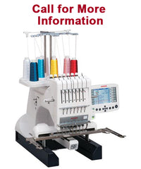Janome MB-7 Embroidery Machine with Bank Robber or Mint Vacuum