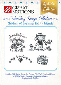 Great Notions Embroidery Design Collection - Children Of The Inner Light - Friends