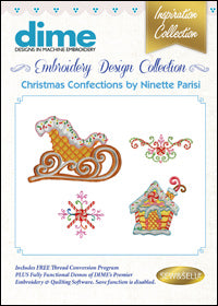 Dime Embroidery Design Collection - Christmas Confections