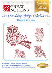 Great Notions Embroidery Design Collection - Elegant Wisdom