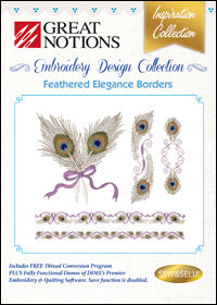 Great Notions Embroidery Design Collection - Feathered Elegance Borders