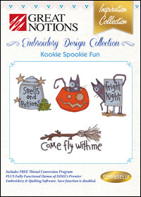 Great Notions Embroidery Design Collection - Kookie Spookie Fun