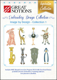 Great Notions Embroidery Design Collection - Image By Design - Collection 1