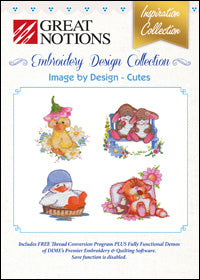 Great Notions Embroidery Design Collection - Image By Design - Cutes