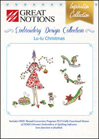 Great Notions Embroidery Design Collection - Lu-Lu Christmas