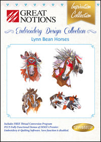 Great Notions Embroidery Design Collection - Lynn Bean Horses