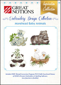Great Notions Embroidery Design Collection - Morehead Baby Animals