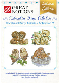 Great Notions Embroidery Design Collection - Morehead Baby Animals - Collection 2