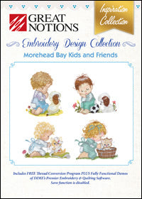 Great Notions Embroidery Design Collection - Morehead Bay Kids And Friends
