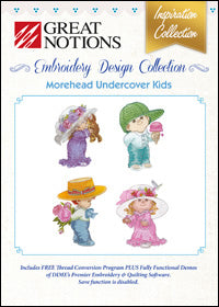 Great Notions Embroidery Design Collection - Morehead Undercover Kids