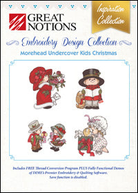 Great Notions Embroidery Design Collection - Morehead Underground Kids Christmas
