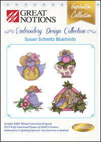 Great Notions Embroidery Design Collection - Susan Schmitz Bluebirds