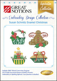 Great Notions Embroidery Design Collection - Susan Schmitz Enamel Christmas