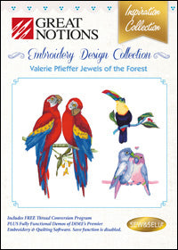 Great Notions Embroidery Design Collection - Valerie Pfieffer Jewels Of The Forest
