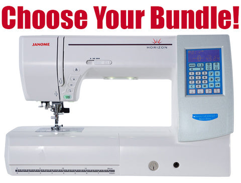 Janome Horizon MC8200QCP Special Edition Sewing Machine - Bank Vacuum Bundle Available!