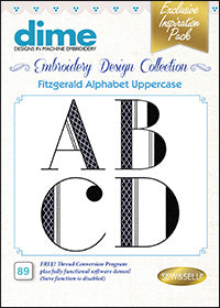 Dime Embroidery Design Collection - Fitzgerald Uppercase