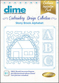 Dime Embroidery Design Collection - Stony Brook Alphabet