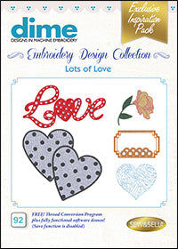 Dime Embroidery Design Collection - Lots Of Love