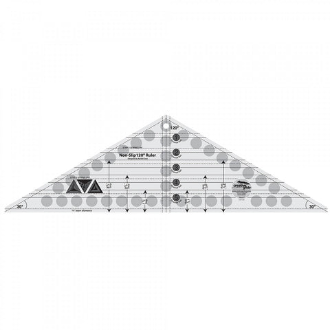 "Creative Grids 120 Degree Triangle Ruler 6.5"" x 21.5"""