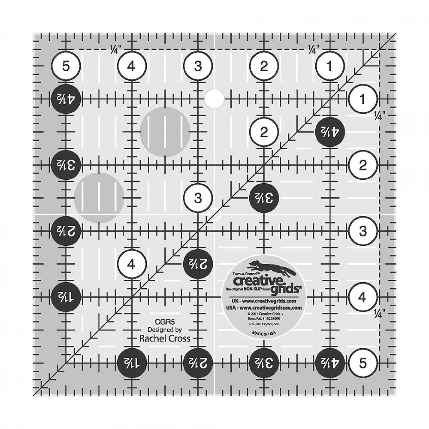 Creative Grids Quilt Ruler 5.5""