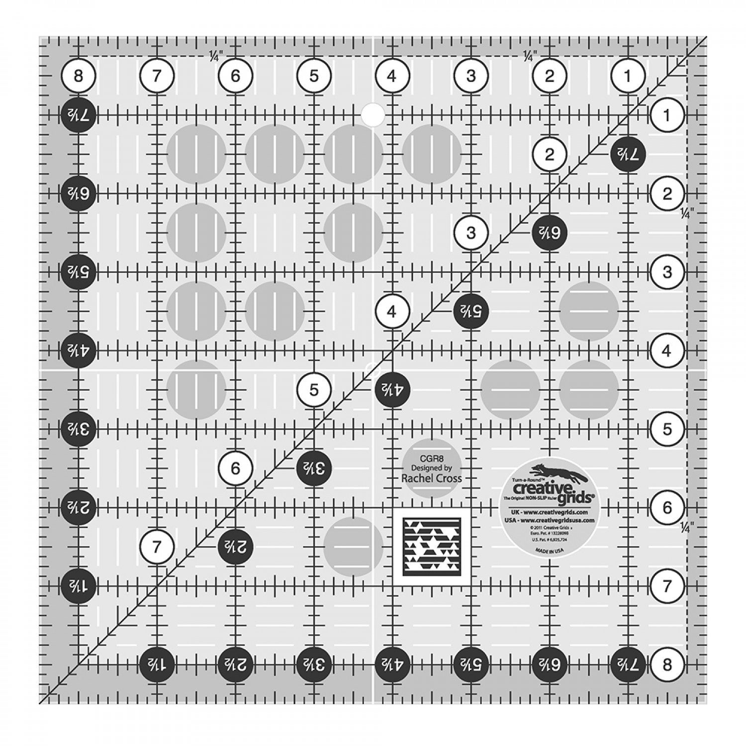 Creative Grids Quilt Ruler 8.5""