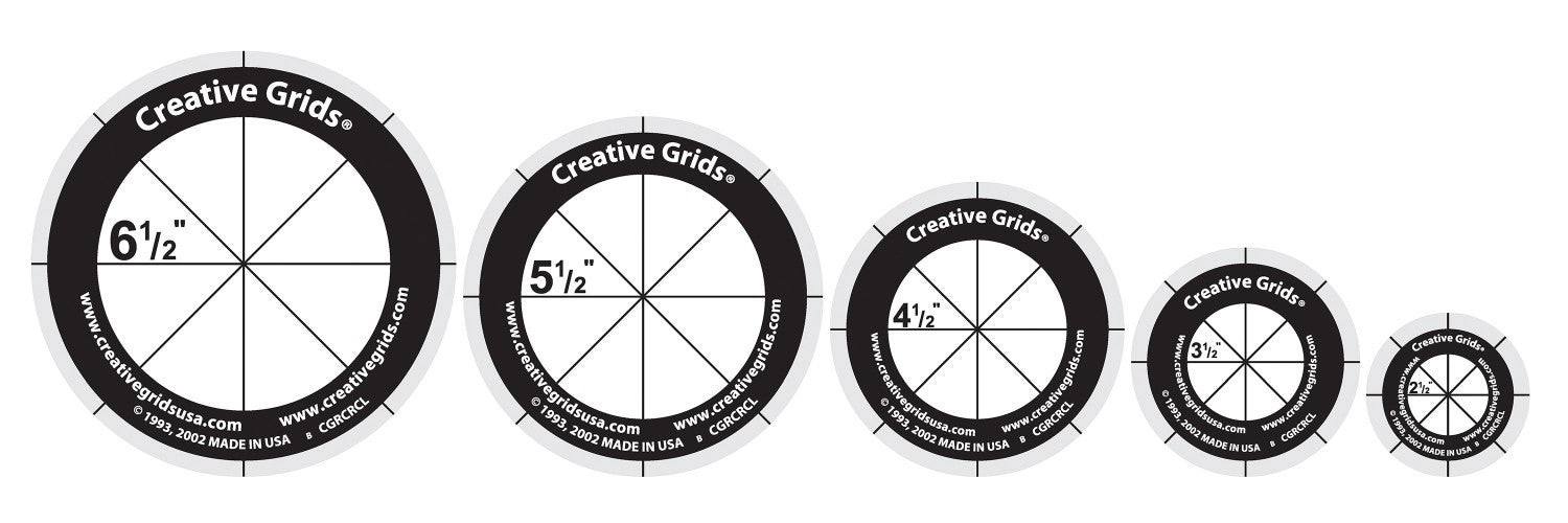 Creative Grids Quilt Ruler Circles Set