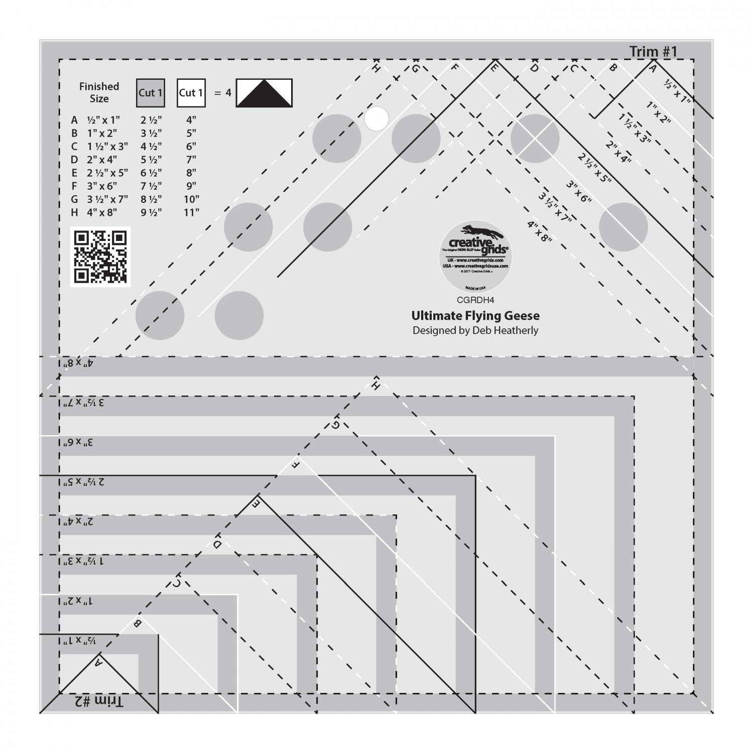 Creative Grids Ultimate Flying Geese Template and Quilt Ruler – Tops ...