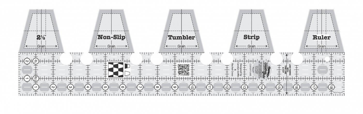 Creative Grids Single Strip Tumbler Ruler