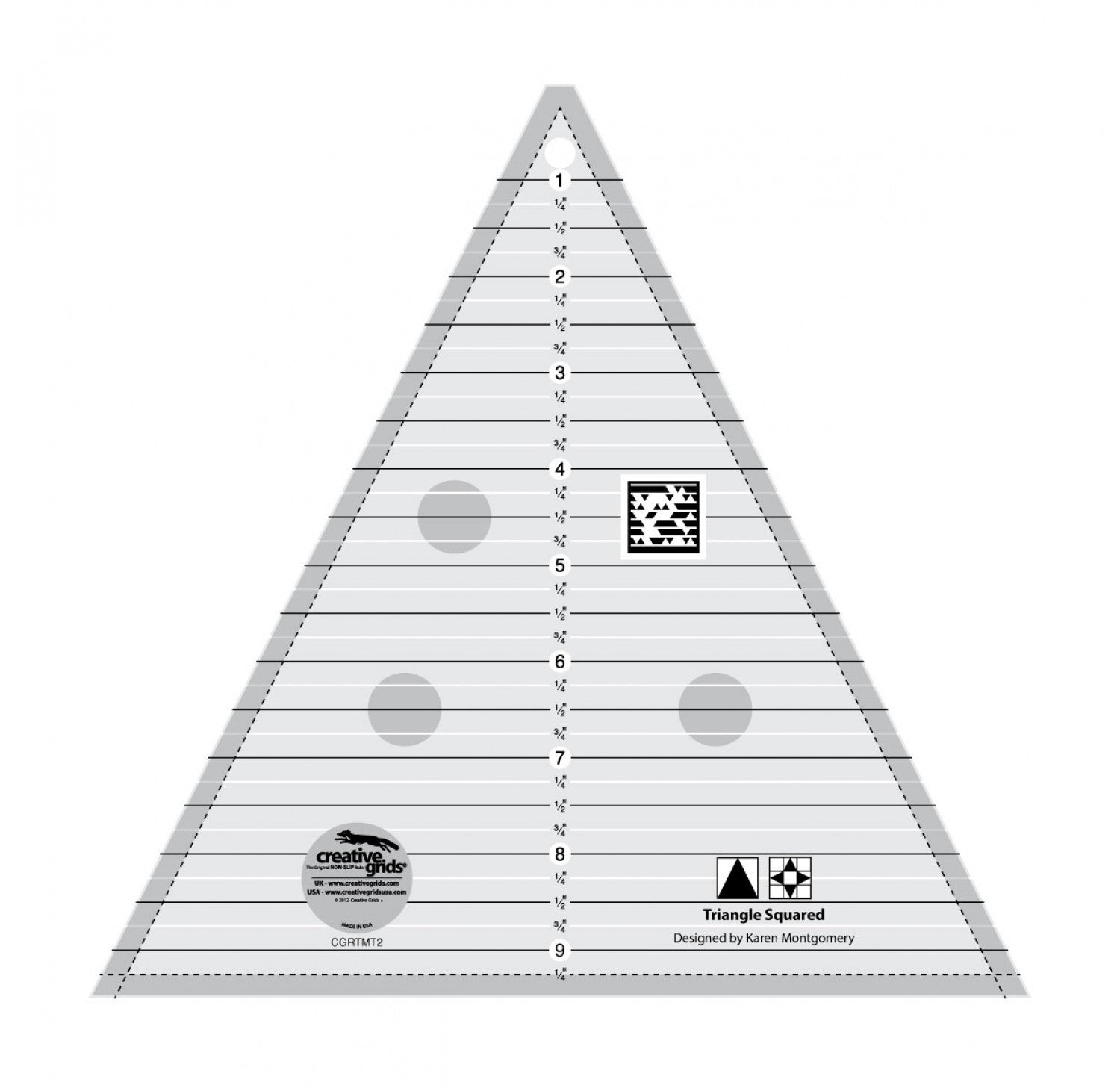Creative Grids Triangle Squared Ruler 9.5""
