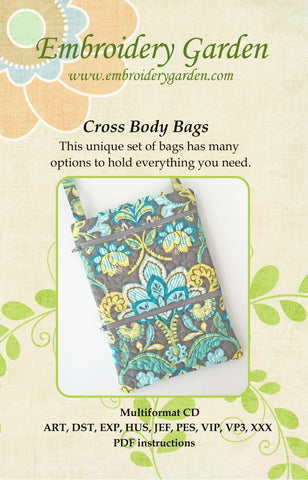 Embroidery Garden Cross-Body Bags Set