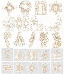 Floriani Embroidery Designs - Christmas Trapunto