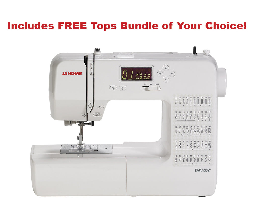 Janome DC1050 Computerized Sewing Machine With Soft Cover